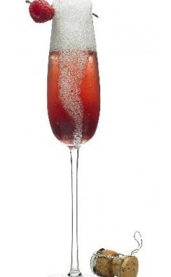 Red Champagne drink